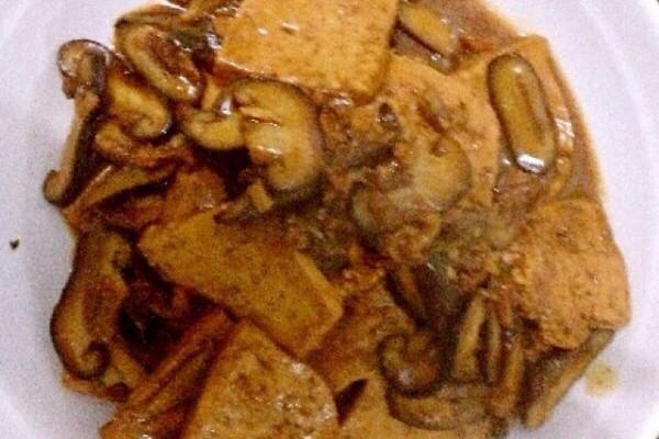 香菇肉末炖豆腐的做法