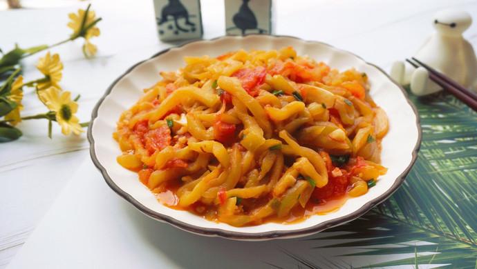 西红柿烧茄丝