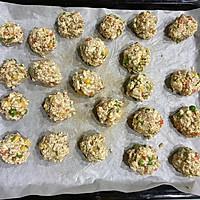 减脂快手菜——烤箱版豆腐杂蔬丸的做法图解5