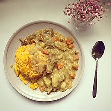 咖喱鸡蛋包饭