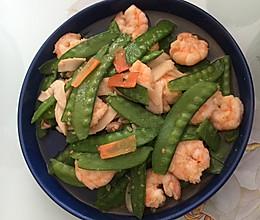 虾仁荷兰豆-颜值超高,营养丰富的做法