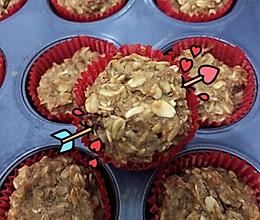 减肥低脂无油—香蕉燕麦小蛋糕的做法