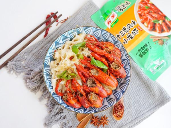 十三香小龙虾拌面的做法