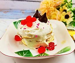 不用烤箱,一个平底锅就搞定的网红甜点-舒芙蕾松饼的做法