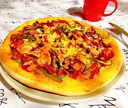 『牛肉圆葱披萨』自己做饼皮其实也不难的做法