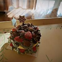 轻乳酪草莓巧克力片 裸蛋糕的做法图解3