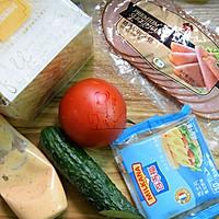 芝士火腿三明治#百吉福食尚达人#的做法图解1