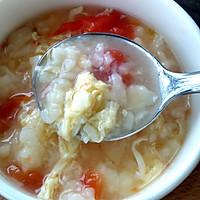 香滑番茄鸡蛋疙瘩汤#急速早餐#的做法图解4