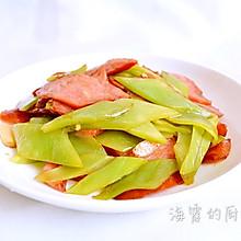 萵筍炒香腸#德國MIJI愛心菜#