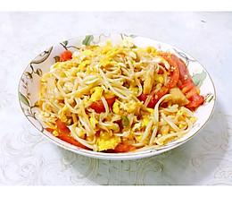 番茄鸡蛋炒金针菇的做法