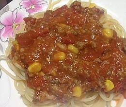 番茄肉末意面的做法