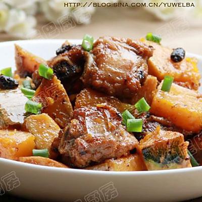 南瓜豆豉炒排骨