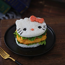 K丅猫米饭鸡排汉堡