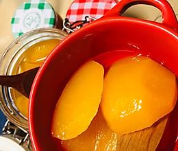 吃不完的黄桃拿来做黄桃罐头和黄桃酱保存起来吧的做法