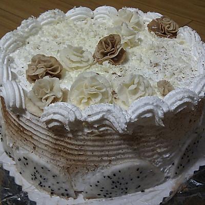 【装饰蛋糕】翻糖花蛋糕
