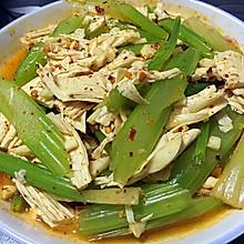 减肥餐:凉拌芹菜腐竹