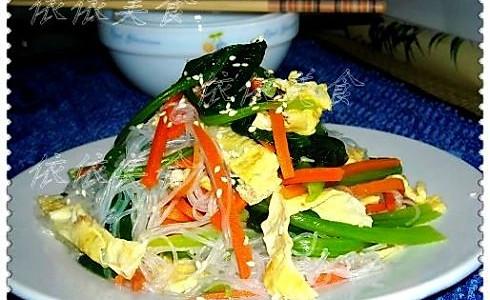 三丝拌菠菜的做法