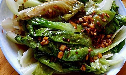 蒜蓉白灼生菜的做法
