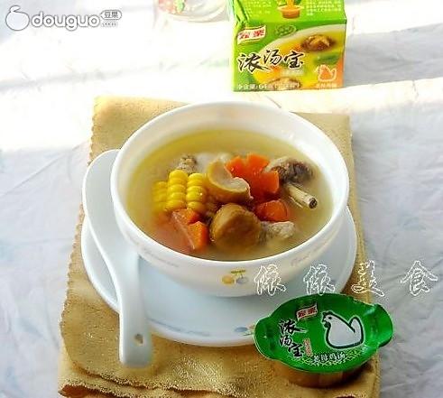 香浓栗子鸡汤的做法