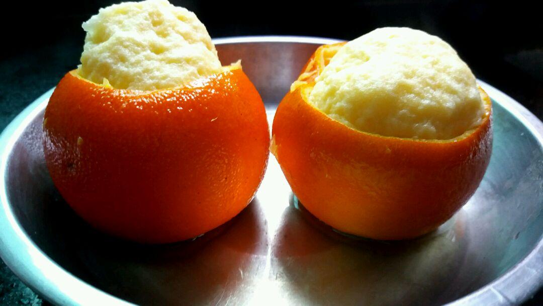 用炒菜锅蒸的 酸奶味、橙味蛋糕