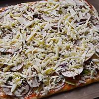 脆底蘑菇披萨的做法图解10