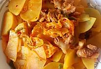 辣白菜炒土豆片的做法