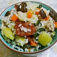 香菇腊肠胡萝卜菜饭