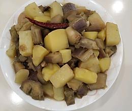 原汁少油回锅茄子炒土豆的做法