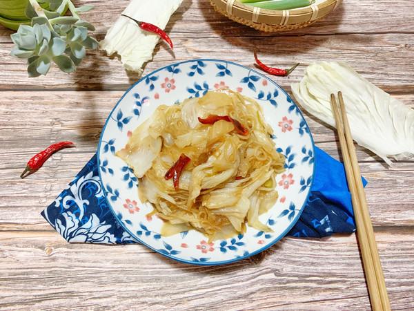 醋溜粉条白菜的做法