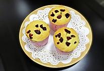 椰香蔓越莓马芬蛋糕的做法