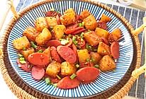 #夏日消暑,非它莫属#孜然土豆火腿肠的做法