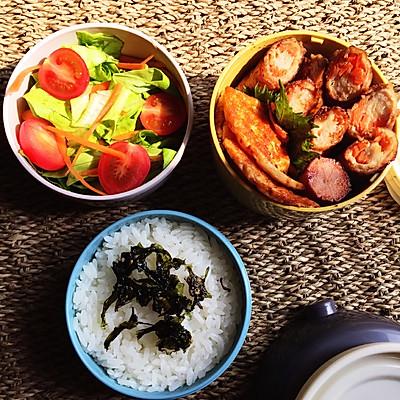春季送饭便当《2》-蔬菜猪肉卷