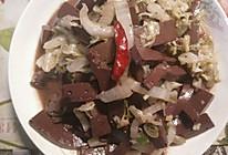 酸菜炒猪血的做法
