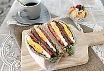 亲测好吃减肥餐 全麦鸡蛋牛排三明治 快手早餐营养均衡的做法