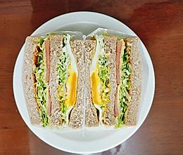 吃掉烦恼,吃完滚去上班 |全麦火腿三明治的做法