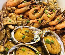 辣卤海鲜➕辣卤牛蛙的做法