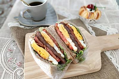 親測好吃減肥餐 全麥雞蛋牛排三明治 快手早餐營養均衡
