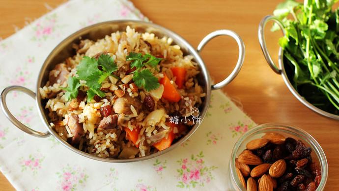 【羊肉抓饭】营养美味省时省力的饭菜一锅出