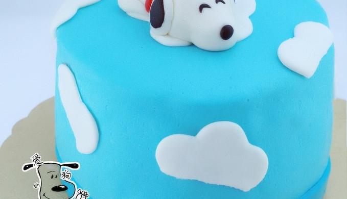 翻糖snoop蛋糕 附超细海绵蛋糕做法