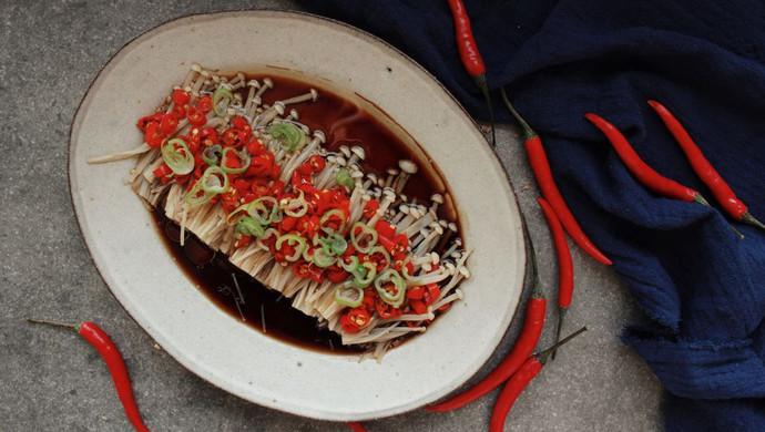 桌饭年夜菜   剁椒金针菇,唤醒你的味蕾和胃口