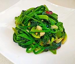 炒菠菜的做法