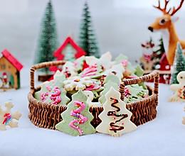"""#甜蜜暖冬,""""焙""""感幸福#宝宝都爱的圣诞双色饼干的做法"""
