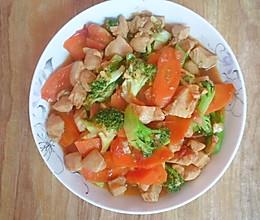 清淡主食~西兰鸡丁的做法