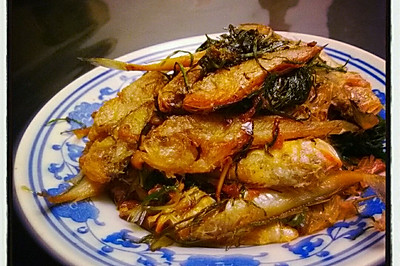 野葱烤小黄鱼
