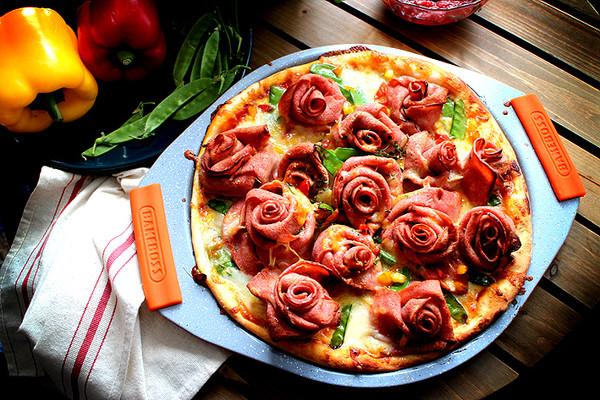 培根玫瑰披萨