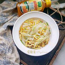 白菜炒鸡蛋#太太乐鲜鸡汁蒸鸡原汤#