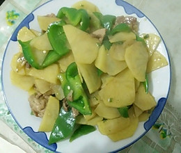 辣椒土豆片炒肉的做法