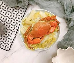 #肉食者联盟#娃娃菜蒸螃蟹的做法