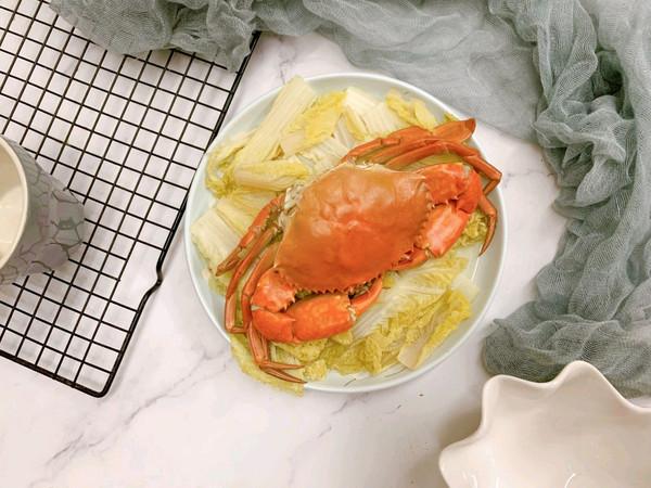 娃娃菜蒸螃蟹的做法