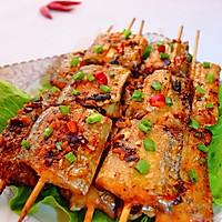 酒酿香酥竹签烤带鱼